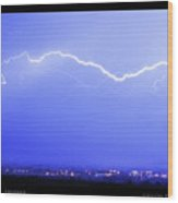 Lightning Over North Boulder Colorado  Poster Sp Wood Print