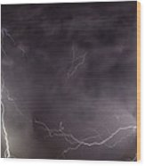 Lightning Over Perris Wood Print