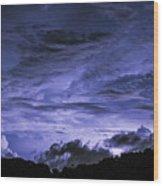 Lightning Over Pohnpei Wood Print