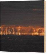 Lightning Over Santa Ynez Valley Wood Print