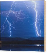 Lightning Storm 08.05.09 Wood Print