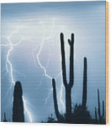 Lightning Storm Chaser Payoff Wood Print