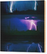 Lightning Storm Progression Wood Print