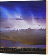 Lightning Thunder Head Cloud Burst Boulder County Colorado Im39 Wood Print