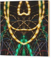 Lightpainting Panorama Print Photograph 2 Wood Print