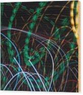 Lightpainting Single Wall Art Print Photograph 1 Wood Print