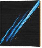 Electric Neon Three Wood Print