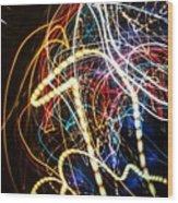 Lightpainting Single Wall Art Print Photograph 3 Wood Print