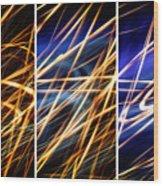 Lightpainting Triptych Wall Art Print Photograph 6 Wood Print