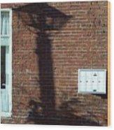 Lightpost Shadow Wood Print