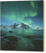 Lights Above Lofoten Wood Print