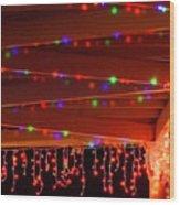 Lights At Christmas Wood Print