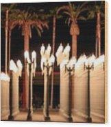 Lights At The Lacma La County Museum Of Art 0763 Wood Print