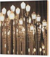 Lights At The Lacma La County Museum Of Art 0768 Wood Print