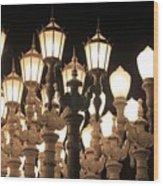 Lights At The Lacma La County Museum Of Art 0769 Wood Print