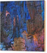 Lights In A Cave Wood Print