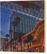 Lights In Down Town Las Vegas Wood Print