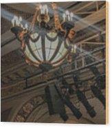 Lights Of Broadway Wood Print