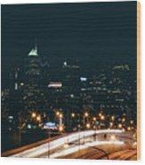 Lights Of Philadelphia Wood Print