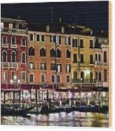 Lights Of Venice Wood Print