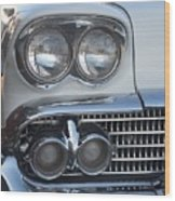 Lights On A '58 Chevy Wood Print