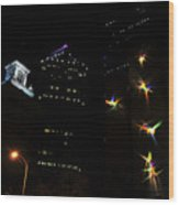 Lights On Tampa Wood Print