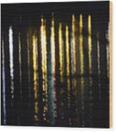 Lights On The Water Wood Print