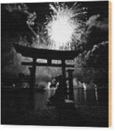 Lights Over Japan Wood Print
