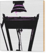 Lightshade In A Hint Of Purple Wood Print