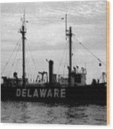 Lightship Delaware Vintage 1968 Wood Print