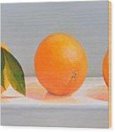 Ligne D Oranges 2 Wood Print