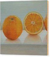 Ligne D Oranges Wood Print