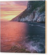 Ligurian Sunset - Vertical Wood Print