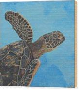 Lil Honu Wood Print