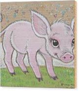 Lil Piglet Wood Print