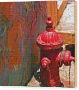 Lil Red Wood Print