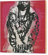 Lil Wayne Pop Stylised Art Sketch Poster Wood Print