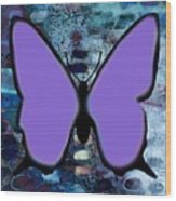 Lila Papillon Wood Print