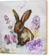 Lilac And Bunny Wood Print