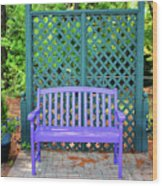 Lilac And Teal Garden Wood Print
