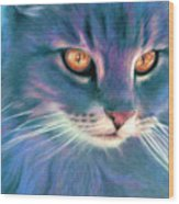 Lilac Cat Wood Print