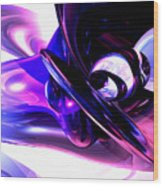 Lilac Fantasy Abstract Wood Print