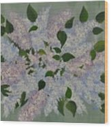 Lilac Flowers Expressing Harmony Wood Print