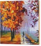 Lilac Fog Wood Print