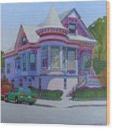 Lilac House, Alameda Wood Print