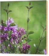 Lilac Memories Wood Print