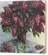 Lilac Original Flower Painting Wood Print