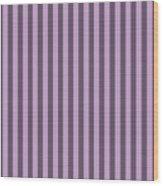 Lilac Purple Striped Pattern Design Wood Print