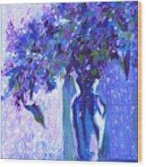 Lilac Rain  Wood Print