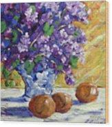 Lilac Wood Print